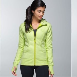 Lululemon Scuba Hoodie Heathered Sunny Lime sunset